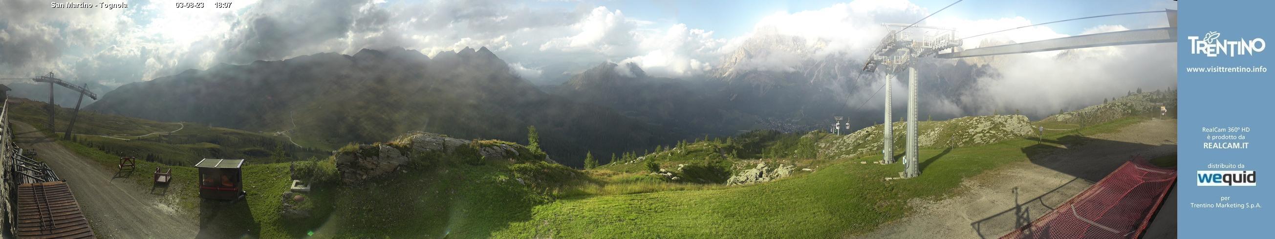 Panoramica Alpe Tognola - San Martino di Castrozza